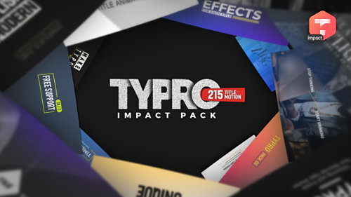 Videohive Typro - ImpactPack I 215 Title Animations 20761549