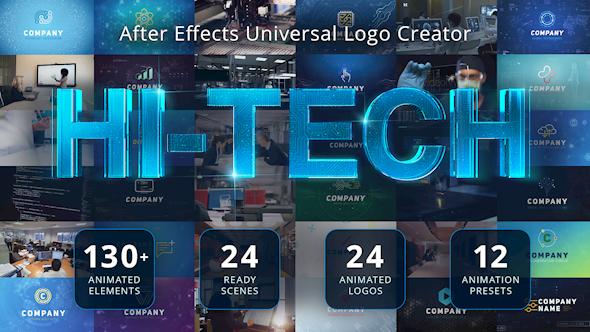 Videohive Ultimate Hi-Tech Logo Generator 17928785