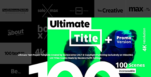 Videohive Ultimate Text - 100 Titles Animation 20871204