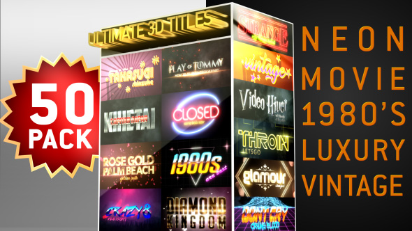 Videohive Ultimate Youtube 3D Titles Logo Openers Pack 21324168