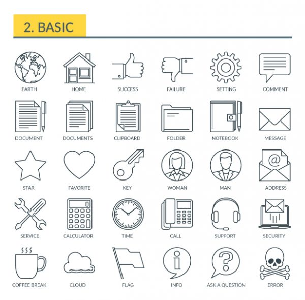 Videohive Universal And Basic - Outline Icons 21291321