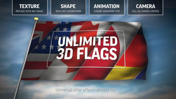 Videohive Unlimited 3D Flags 25557629