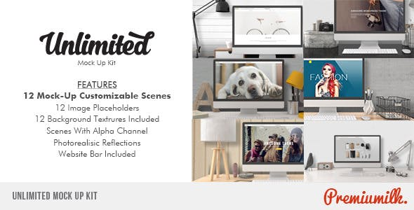 Videohive Unlimited Mock Up Kit 9720154