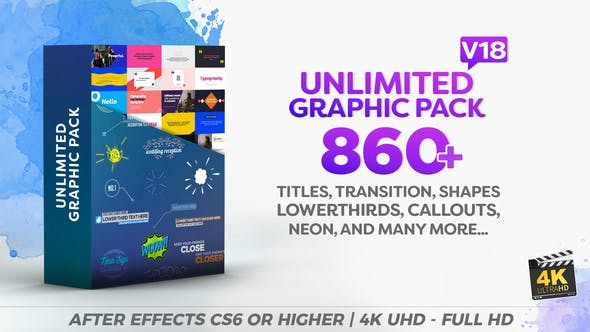 Videohive Unlimited Shapes Titles Transitions Lower Thirds Elements Graphic Pack 12002012
