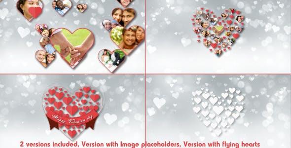 Videohive Valentine Romantic Hearts Opener 6632827