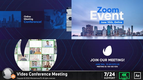Videohive Video Conference Online Zoom Meeting 26909027