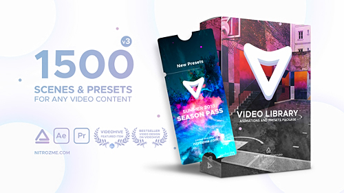 Videohive Video Library - Video Presets Package V 3.0 21390377