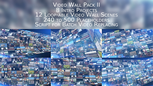 Videohive Video Wall Pack II 19677631
