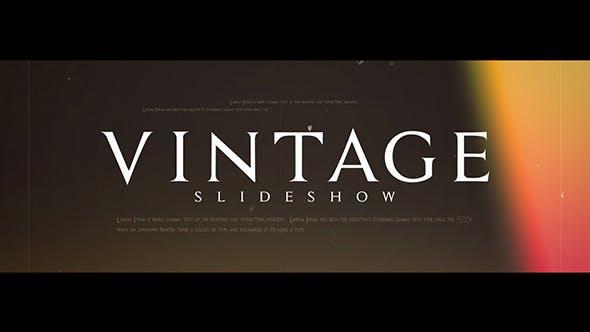Videohive Vintage Slideshow 21234880