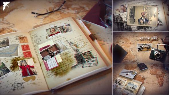 Videohive Vintage Travel Journal 21663188