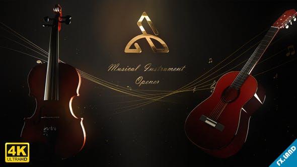 Videohive Violin and Guitar - Musical Opener 26993985