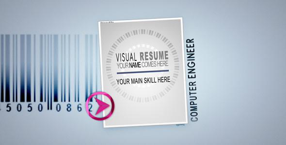 Videohive Visual Resume Alpha Animated Curriculum