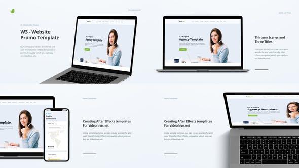 Videohive W3 - Website Promo 25076829