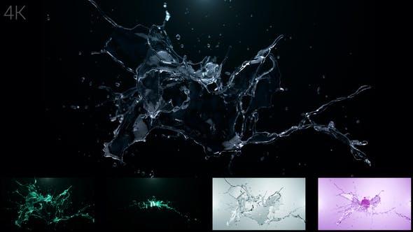 Videohive Water Splash Logo Reveal 24743540