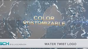 Videohive Water Twist Logo