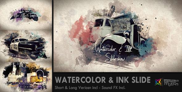 Videohive Watercolor & Ink Slideshow