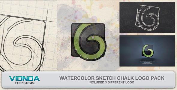 Videohive Watercolor Sketch Chalk Logo Pack 5053354