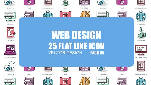 Videohive Web Design - Flat Animation Icons 23370362