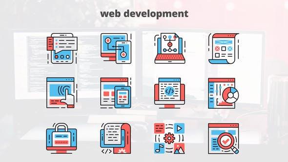 Videohive Web Development – Thin Line Icons 23455772