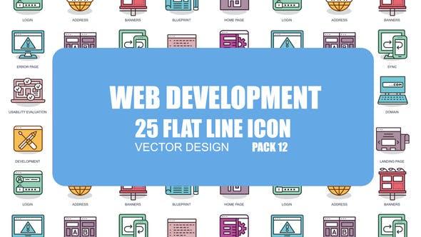 Videohive Web Development - Flat Animation Icons 23380944