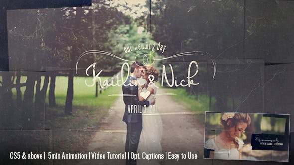 Videohive Wedding Memory Collage 11211577