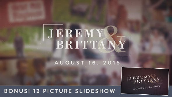 Videohive Wedding Moments Slideshow 11942444