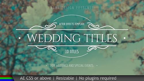 Videohive Wedding Titles 19995952