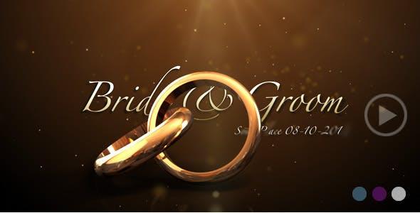 Videohive Weddings Rings Intro 622944