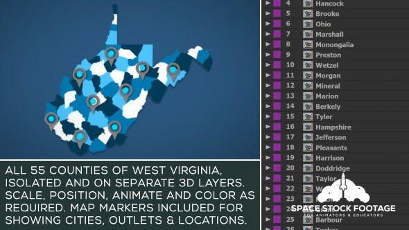 Videohive West Virginia Map Kit 20845422