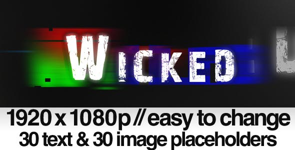 Videohive Wicked - Bad TV Signal Noise 140215