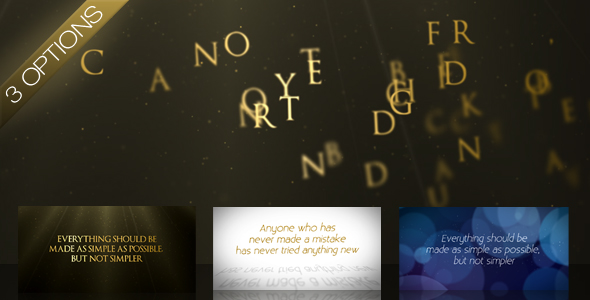 Videohive Wind Swept Text