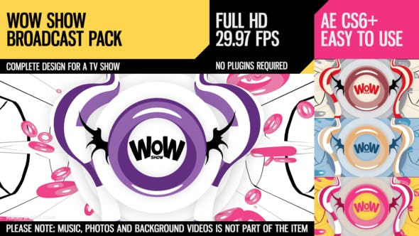 Videohive WoW Show (Broadcast Pack) 10582407