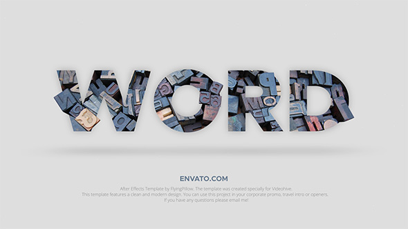 Videohive Word - Professional Typography Toolkit 19784807