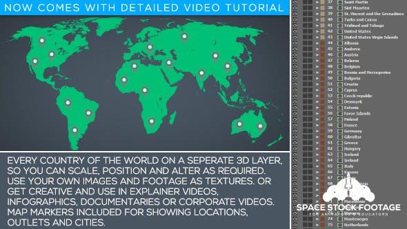 Videohive World Map Kit 15743461
