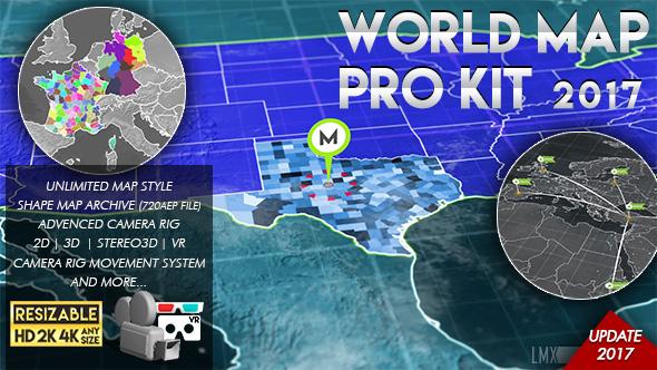 Videohive World Map Pro Kit 11602298