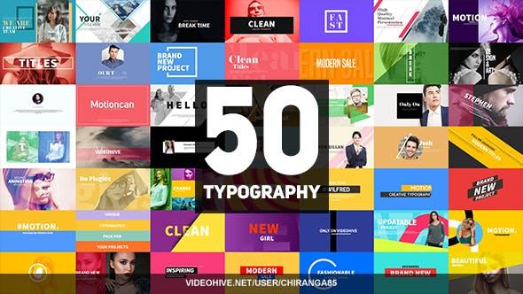 Videohive 50 Typography 21081083
