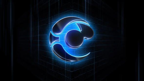 Videohive Black Glass Logo Text Reveal 27481238