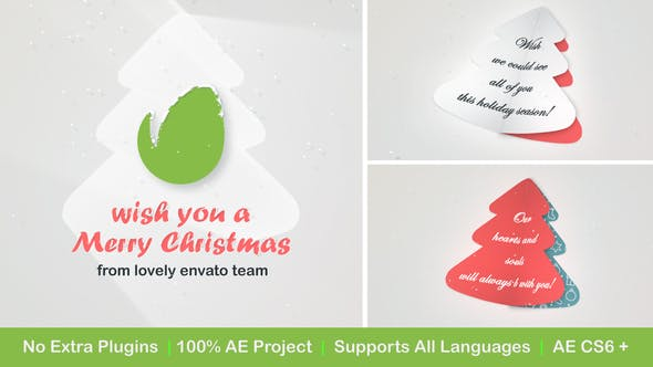 Videohive Christmas Logo with Messages and Images 25140121