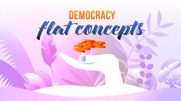 Videohive Democracy - Flat Concept 27646484