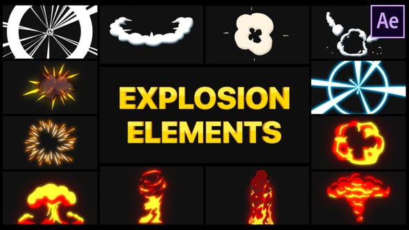Videohive Explosion Elements 28491064