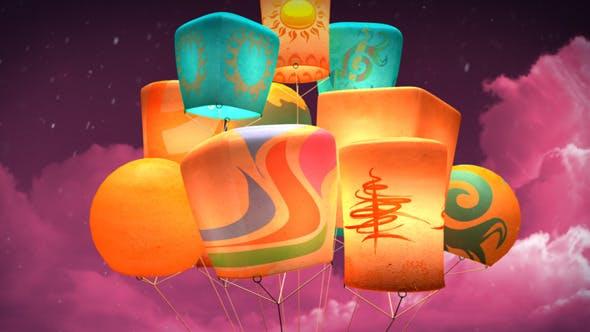 Videohive Fantasy Lanterns Logo 5531902