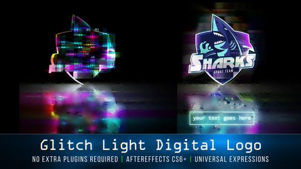 Videohive Glitch Light Digital Logo 26003571