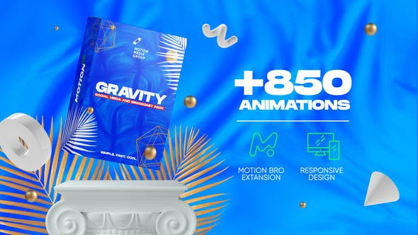 Videohive Gravity Social Media and Broadcast Pack 26414068