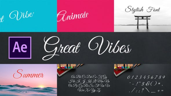Videohive Great Vibes - Animated Typeface 28451669