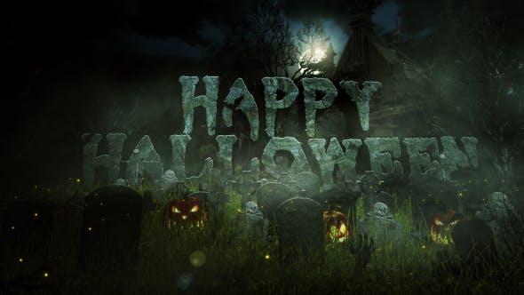 Videohive Halloween Logo Reveal 9236373