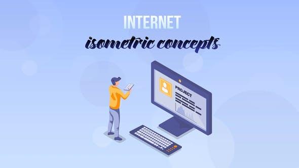 Videohive Internet - Isometric Concept 27529391