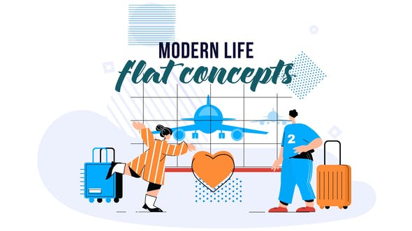 Videohive Modern life - Flat Concept 28828984