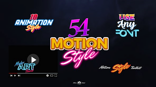 Videohive Motion Styles Toolkit - Text Effects - Animations 27095836