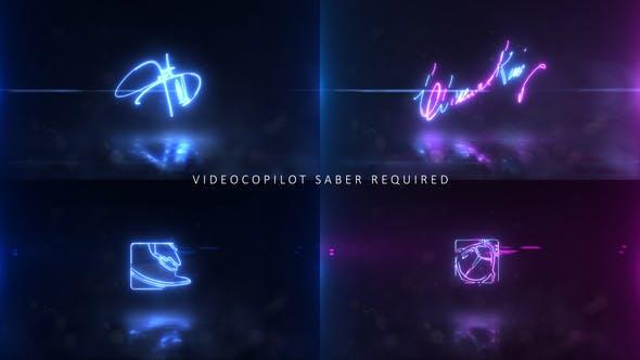 Videohive Neon Signature Logo 24569181