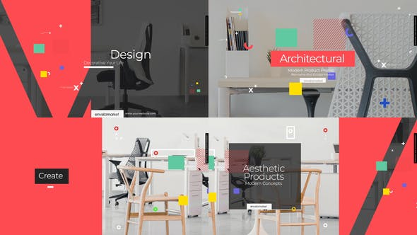 Videohive Office Furniture Products Promotion 28857872